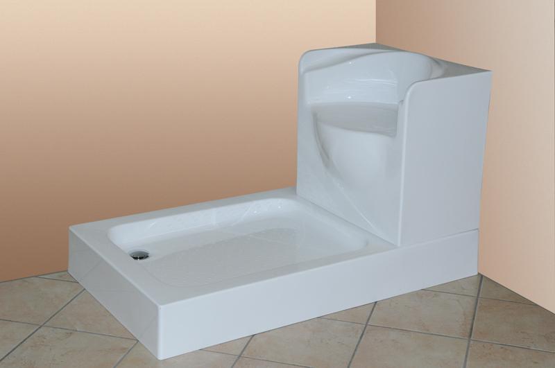 vasca da bagno con sedile piatto doccia con sedile 122 x 72