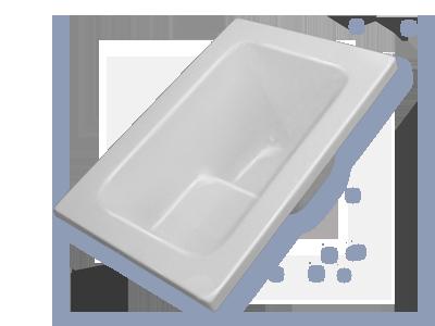 Vasca con sedile boiserie in ceramica per bagno - Vasche da bagno misure ridotte ...